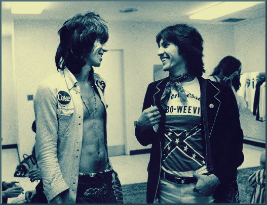 Keith Richards and Stanley Booth, 1969