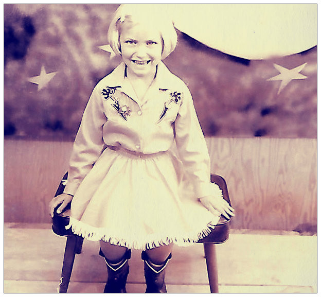 Debbi Griffin Hickox, 5 years old.  Tampa, Florida, 1965.
