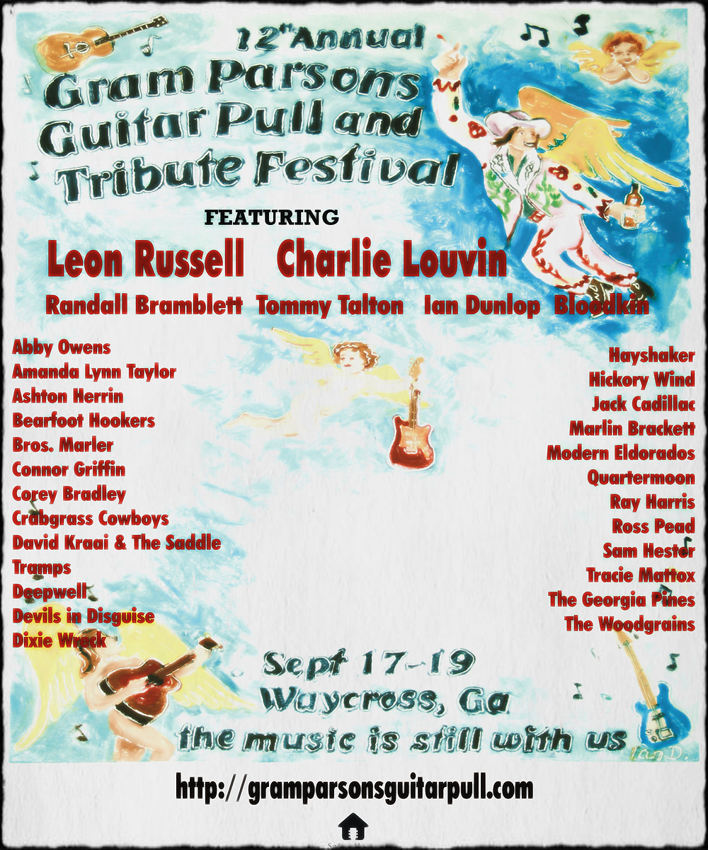 12th Annual Gram Parsons Guitar Pull Flyer, 2009