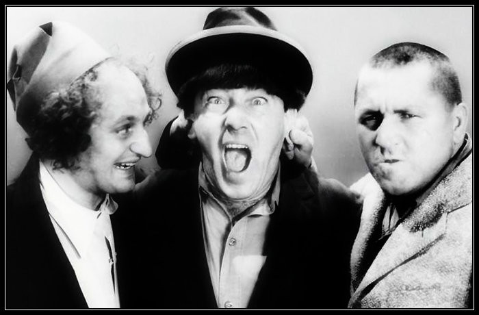 Larry, Moe, and Curly.  The Three Stooges.
