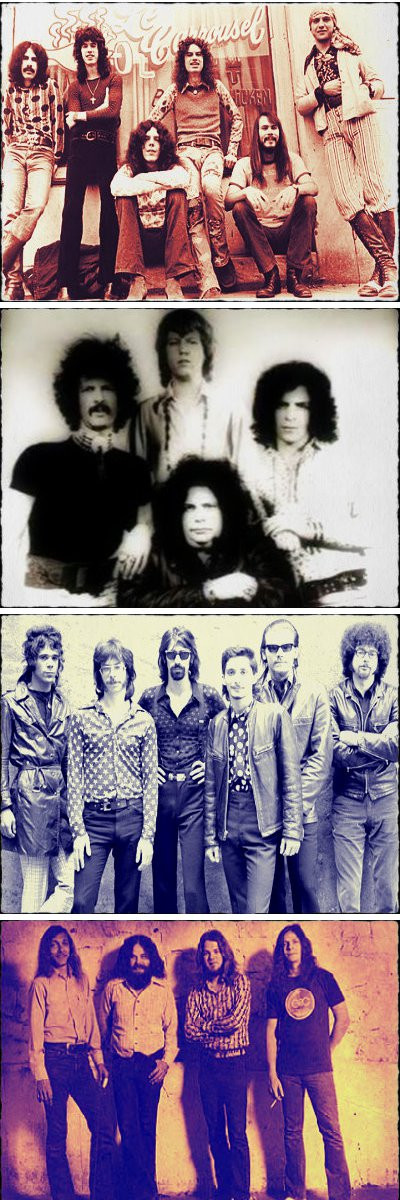 Top to Bottom: Wet Willie; Mountain; J. Geils Band; Eric Quincy Tate with Donnie McCormick on left.