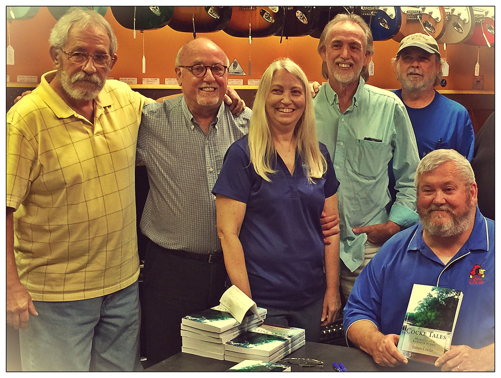 The Doghill Gang.  L-R: Greg Griffin, Gary Griffin, Debbi Griffin Hickox, Uncle Dave, Billy Ray Herrin, and James Cocke, 2017