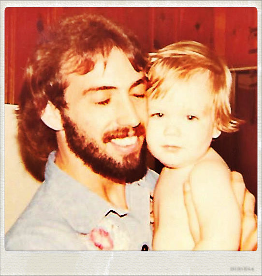 Uncle Dave and nephew David Gram Griffin, 1976.