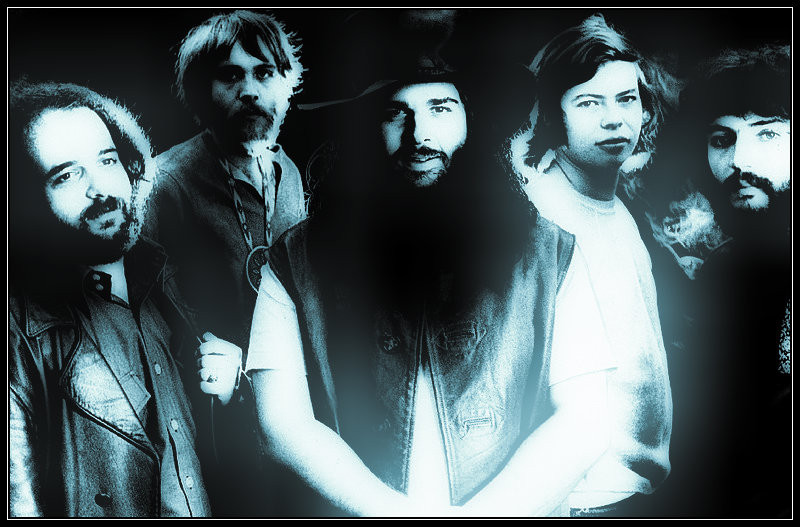 "Canned Heat, L-R:  Larry ""The Mole"" Taylor, Henry ""Sunflower"" Vestine, Bob ""The Bear"" Hite, Alan ""Blind Owl"" Wilson, Adolfo ""Fito"" de la Parra"