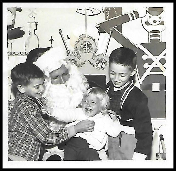 Uncle Dave, Deb, Gary.  Sears & Roebuck, Albany GA, 1962