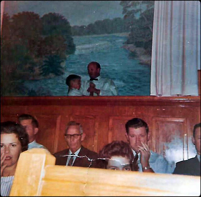 In over my head at Calvary Baptist Church, Nov. 1964