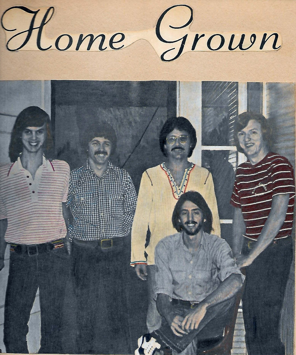 Homegrown L-R: Ricky Alderman, Bruce Wood, Wayne Scarborough, Joe Shear   FRONT: Uncle Dave Griffin