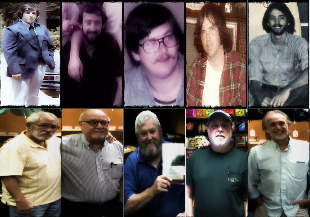 Greg (Slick), Gary (Tick), James (Sharky), Billy Ray (Bird Legs Ray), Dave (Lonesome Dave)