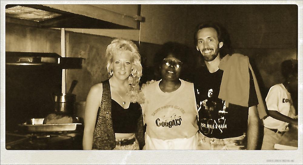 Aunt Lynne, Mama Louise, Uncle Dave. H & H Restaurant, 1992
