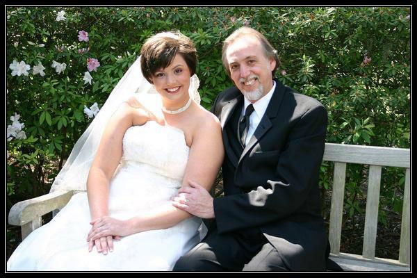 Megan Griffin Stewart on her wedding day.  Lovely Lane Chapel, St. Simons Island GA, March 18, 2006.