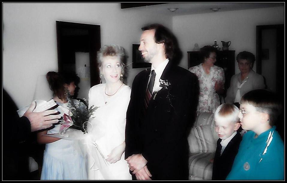 Wedding day, May 29, 1993...25 years ago.