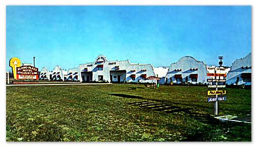 Alamo Plaza Hotel Court, Augusta GA, 1959.