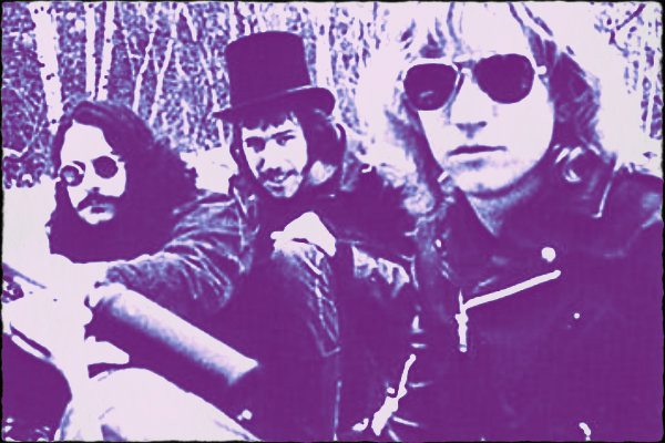 James Gang, 1970.  L-R: Jim Fox, Dale Peters, Joe Walsh