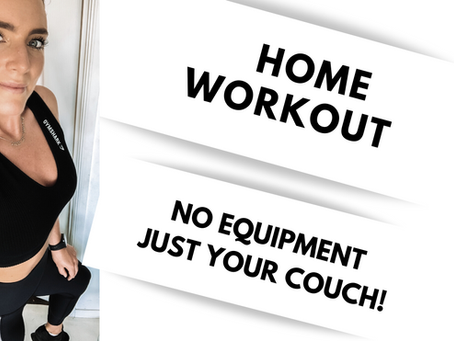 HOME TONING WORKOUT. NO EQUIPMENT, just a chair or couch!