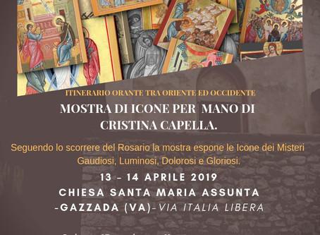 prossima MOSTRA di  Icone Sacre:I 20 Misteri del Rosario