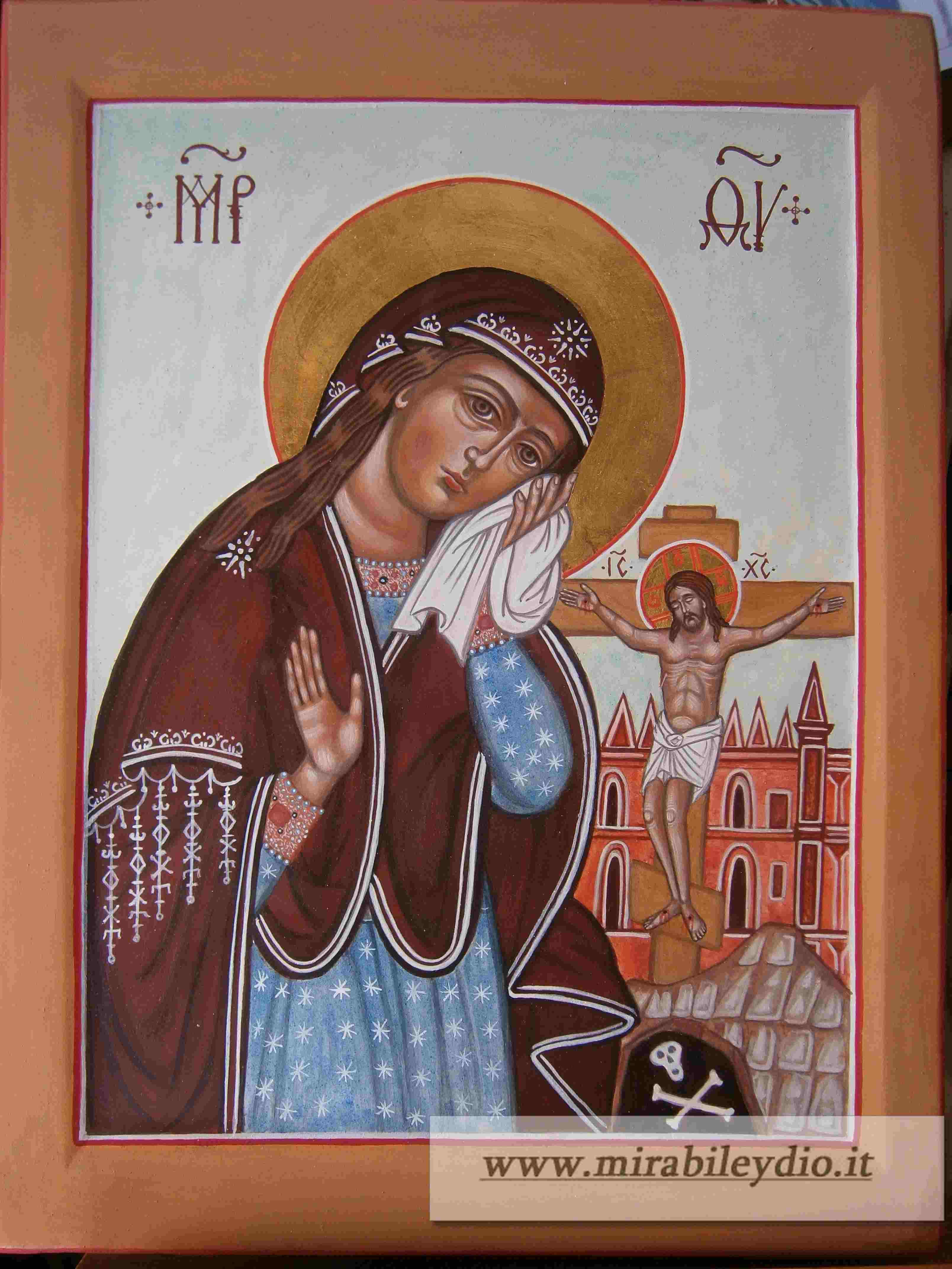 Madre di Dio di Akthyr(Crocifissione