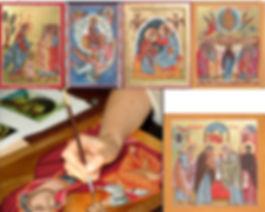 Icone sacre per mano di Cristina Capella.Anche su commissione.