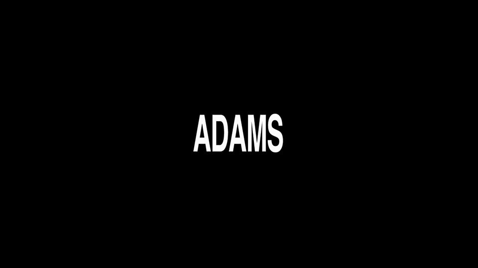 """Adams"" caption card"