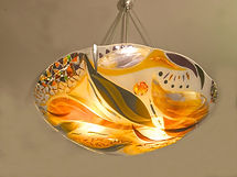 Fused Glass Chandelier, Lighting, Pendant chandelier, Residential, WI