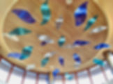 Aerial sculptures, rounda art, hospital art, metal sculptures