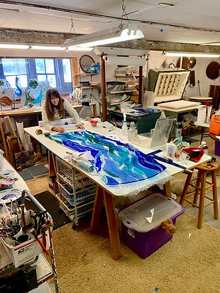 Glass studio inprogress