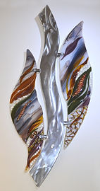 Fused Glass Wall Art Sculpture