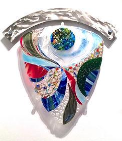 Fused glass mural, wall art, design, custom, hand-made