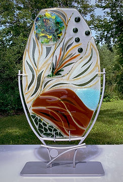 Synergy Glass Sculpture, Table Top Sculpture