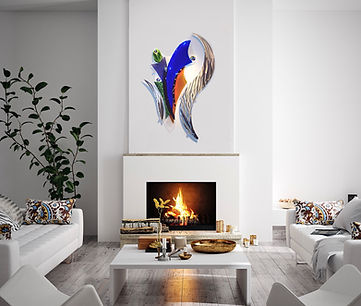 Seed of an Idea, 5' tall, residential glass art