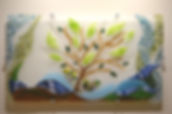 Fused glass, wall sculpture, artwork, nature-theme, hospital art, healing art