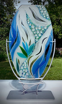 Synergy Fused Glass Sculpture