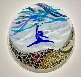 Church art, wall glass art, symbol of freedom