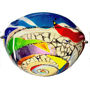 Fused Glass Chandelier