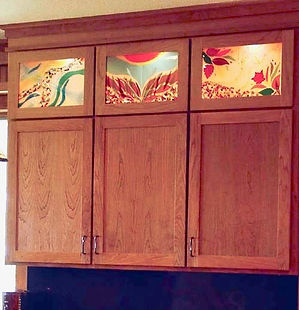 Glass art for cabinets, bar, kitchen