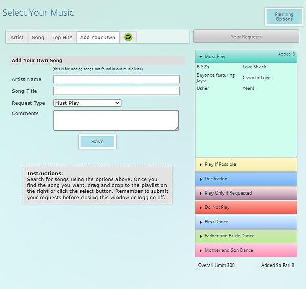 Wedding Music Planner