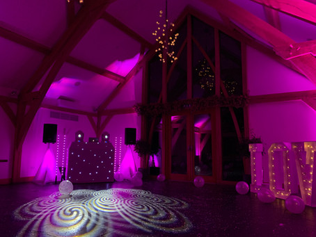 Mythe Barn Wedding Dj.
