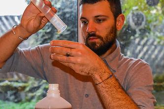 Giacom Sandri dispensing Herbal Medicines