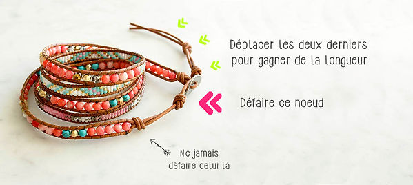 Ajuster mon bracelet Wrap Vintage - Taille