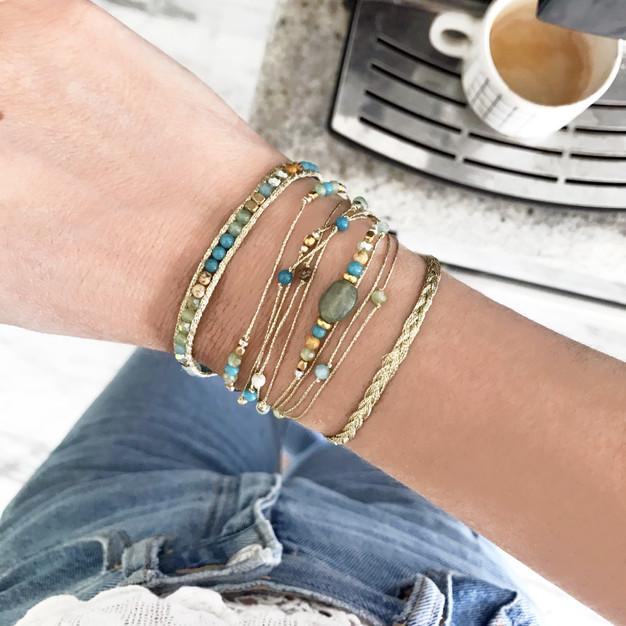 Bracelets Wrap Vintage South wild en pierres naturelles