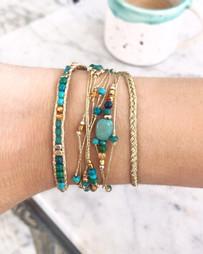 Bracelets Wrap Vintage Quintana en pierres naturelles