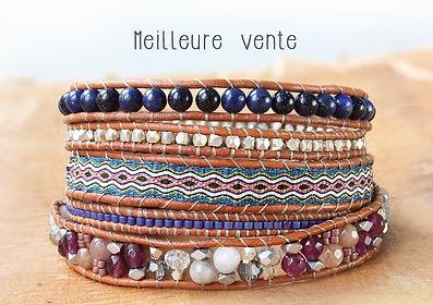 Meilleure Vente Bracelet - Wrap Vintage - Bijoux & Bracelets en pierres naturelles