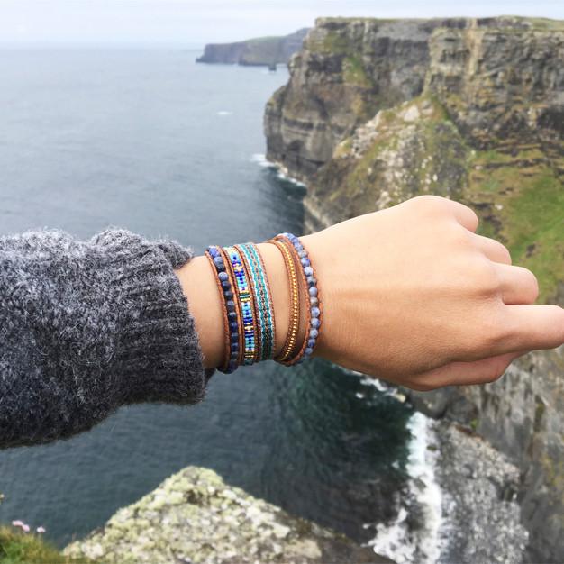 Bracelets Wrap Vintage Yua en pierres naturelles