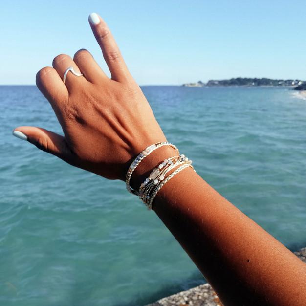 Bracelets Wrap Vintage Moon wild en pierres naturelles