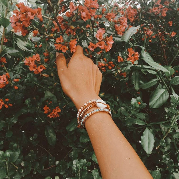 Bracelets Wrap Vintage Venao en pierres naturelles