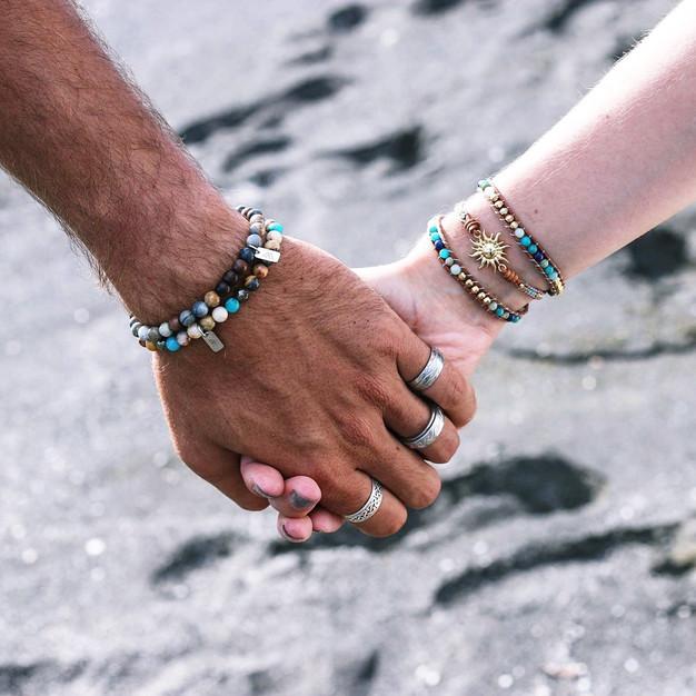Bracelets Wrap Vintage homme en pierres naturelles
