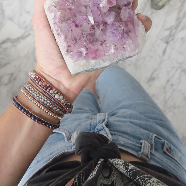 Bracelets Wrap Vintage Aura en pierres naturelles