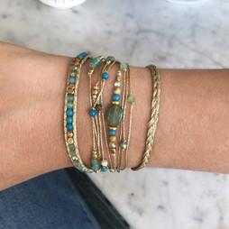 Bracelets Wrap Vintage South wild femme en pierres naturelles