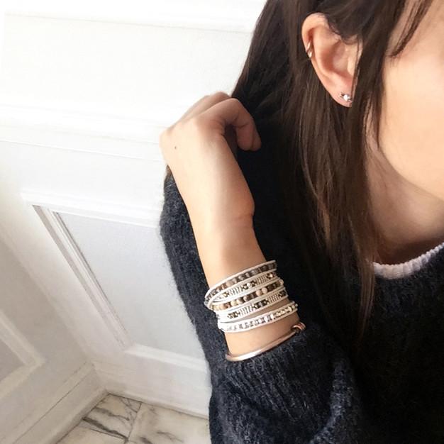 Bracelets Wrap Vintage Hera en pierres naturelles