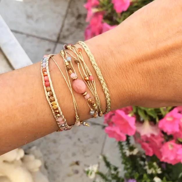 Bracelets Wrap Vintage Haiana en pierres naturelles
