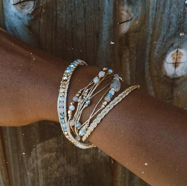 Bracelets Wrap Vintage Moon wild femme en pierres naturelles